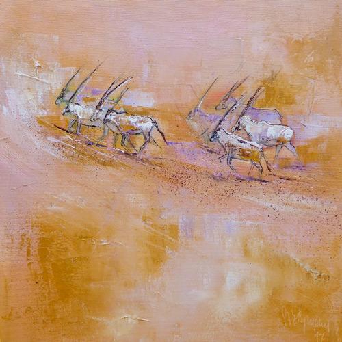 Arabische Oryxantilopen III