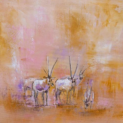 Arabische Oryxantilopen I