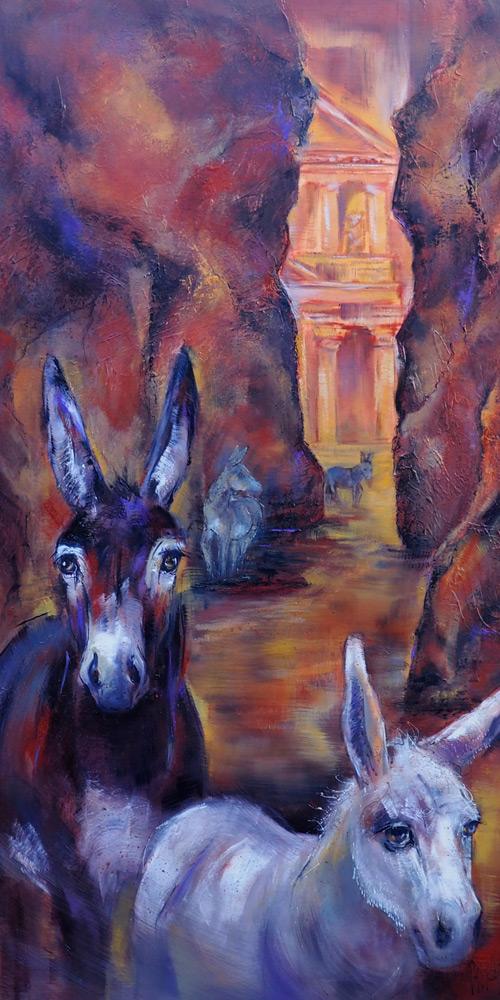 Esel in Jordanien