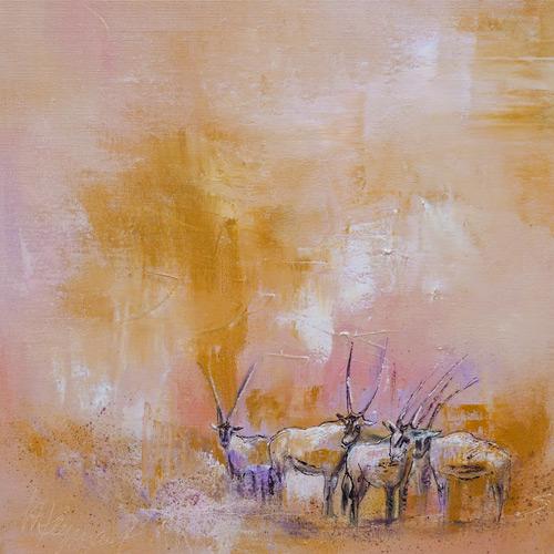 Arabische Oryxantilopen II