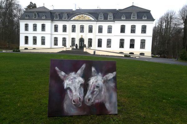 Weisse Esel auf Weissenhaus