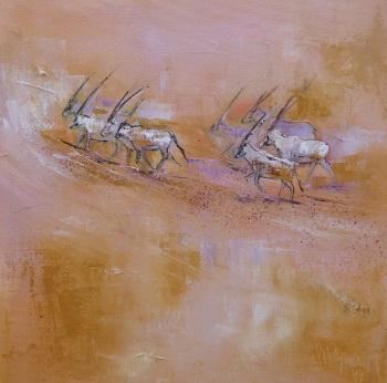 18b Arabische Oryx-Antilopen 40x40 III