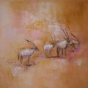 18c Arabische Oryx-Antilopen 40x40 IV